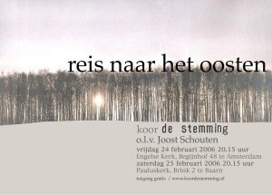 poster koor De Stemming 2006