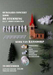 poster concert koor De Stemming 29 december 2013